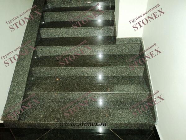 Облицовка лестниц гранитом 8