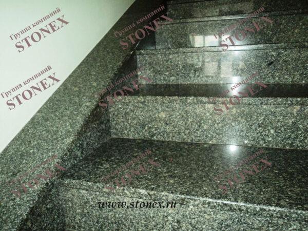 Облицовка лестниц гранитом 7