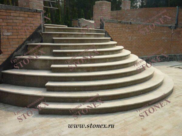 Облицовка лестниц гранитом 14
