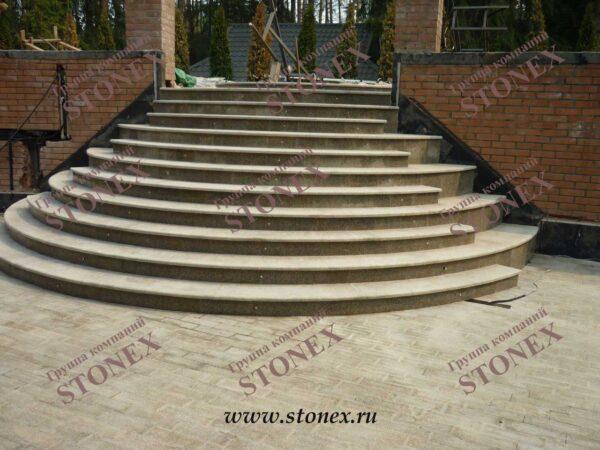 Облицовка лестниц гранитом 13