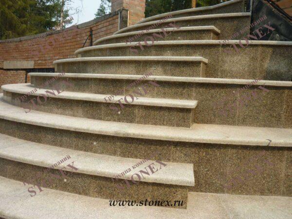 Облицовка лестниц гранитом 12
