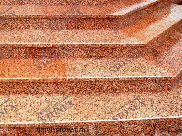 Облицовка лестниц гранитом 22