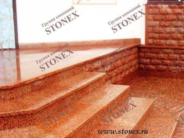 Облицовка лестниц гранитом 21