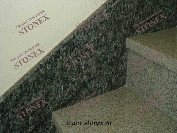 Облицовка лестниц гранитом 43